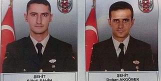 Erzurum'da şehit olan 2 asker memleketlerine uğurlandı