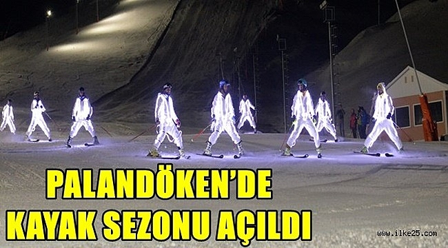 PALANDÖKEN'DE KAYAK SEZONU AÇILDI