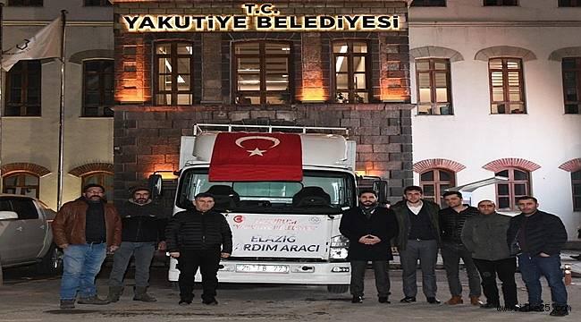 Yakutiye Belediyesi ve pazarcı esnafından Elazığ'a yardım eli