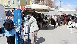 AZİZİYE'DE KORONA ÖNLEMLERİ SÜRÜYOR