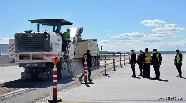 Erzurum Havalimanı'nda çalışmalar yeniden başladı
