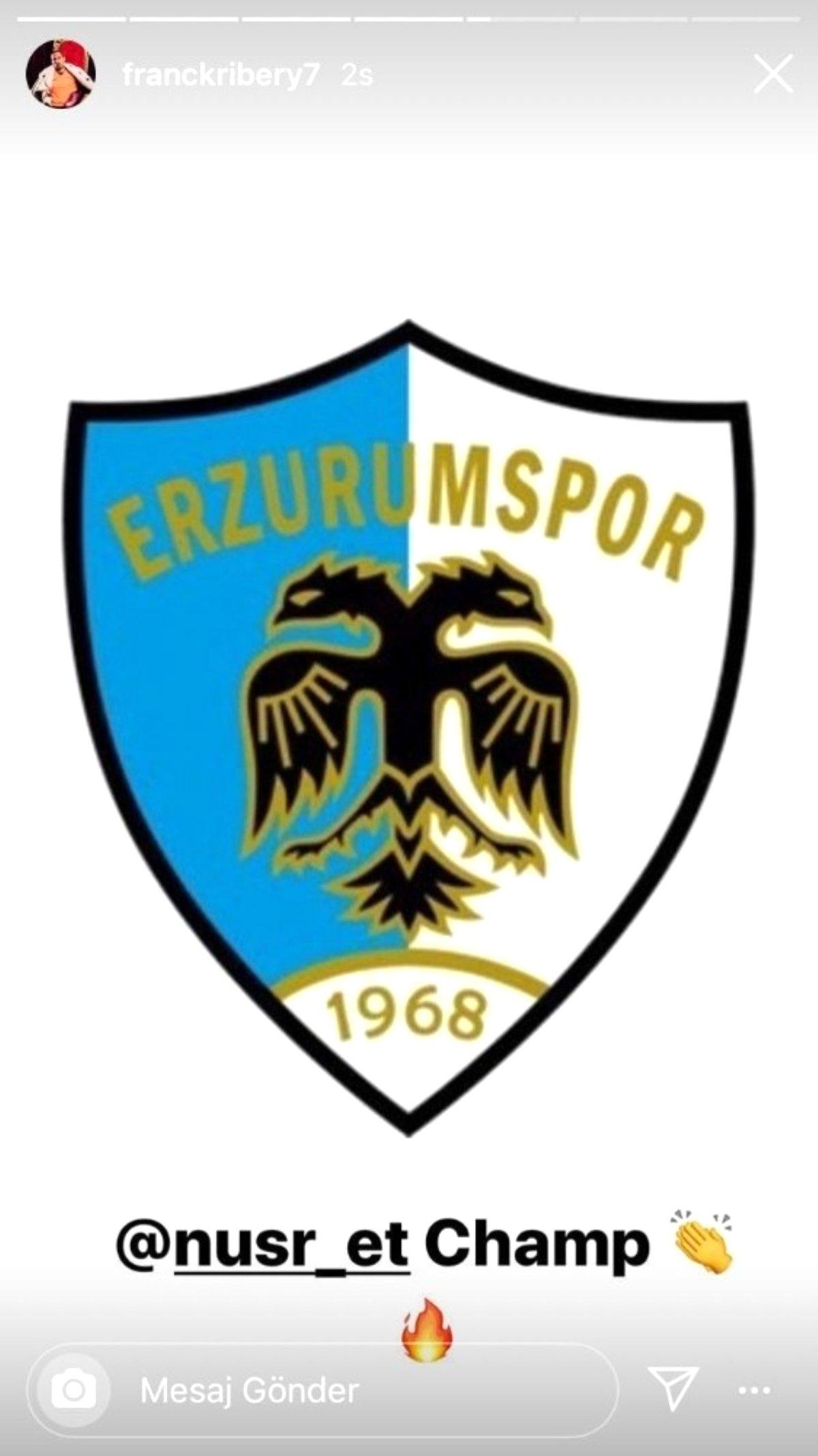 Ribery ve Benzema'dan Erzurumspor'a tebrik mesajı