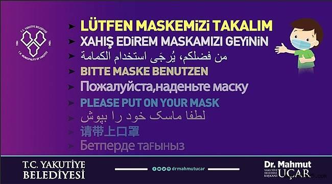 Başkan UÇAR Maske Uyarısında 9 Dile Yer Verdi.Kürtçeyi Es Geçti..