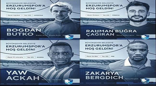 BB Erzurumspor 4 futbolcuyu daha renklerine bağladı