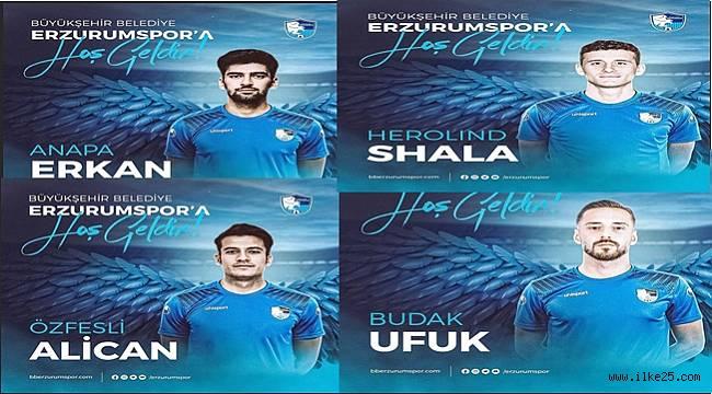 BB Erzurumspor transferin son gününde 4 futbolcuyu birden kadrosuna kattı