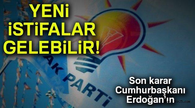 AK Parti'de yeni istifalar gelebilir