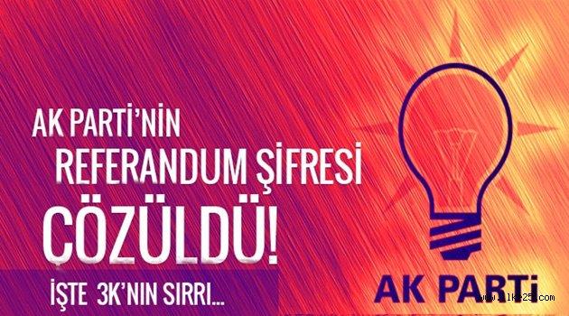 AK Parti'nin referandum şifresi çözüldü!