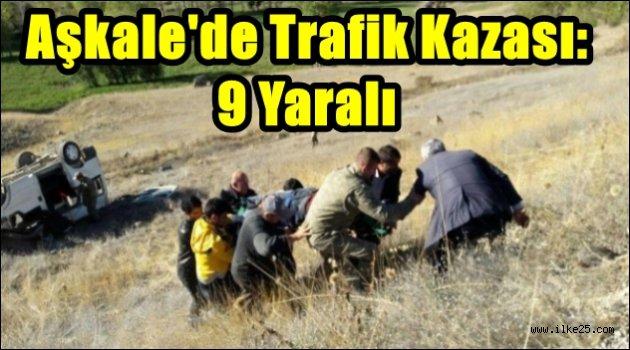 Aşkale'de Trafik Kazası: 9 Yaralı