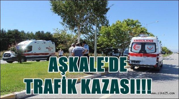 AŞKALE'DE  TRAFİK KAZASI!!!