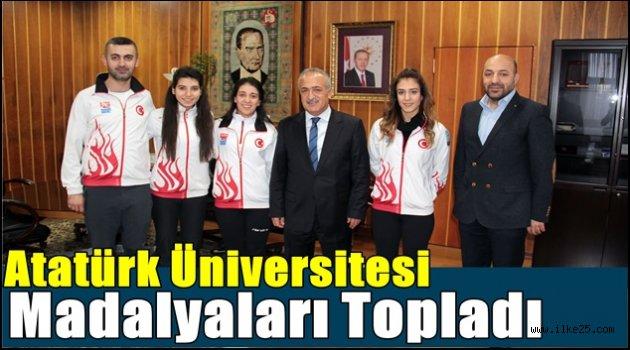 Atatürk Üniversitesi Madalyaları Topladı
