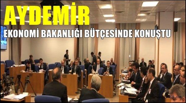 Aydemir Ekonomi Bakanlığı Bütçesinde konuştu