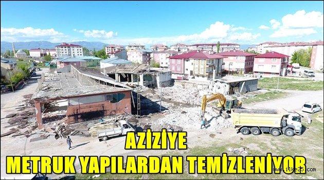 Aziziye Belediyesi huzur ve güven için yıkıyor…