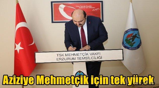 Aziziye Mehmetçik için tek yürek