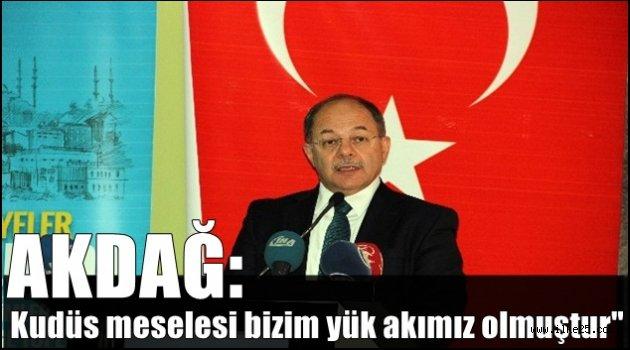 """Başbakan Yardımcısı Akdağ: """"Kudüs meselesi bizim yük akımız olmuştur"""""""