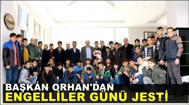 Başkan Orhan'dan Engelliler Günü jesti