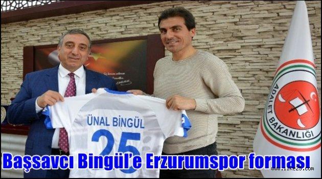 Başsavcı Bingül'e Erzurumspor forması