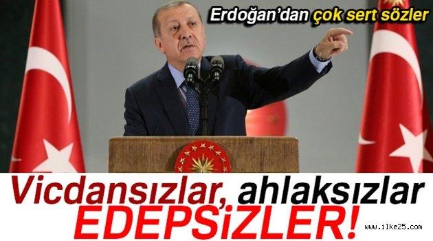 Cumhurbaşkanı Erdoğan: 'Vicdansızlar, ahlaksızlar, edepsizler'