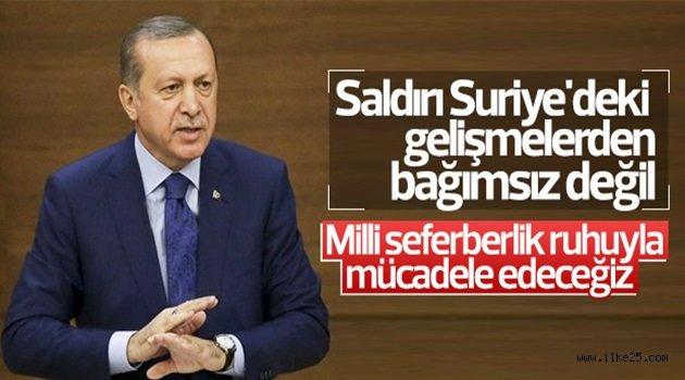 Cumhurbaşkanı Erdoğan'dan saldırıyla ilgili ilk açıklama