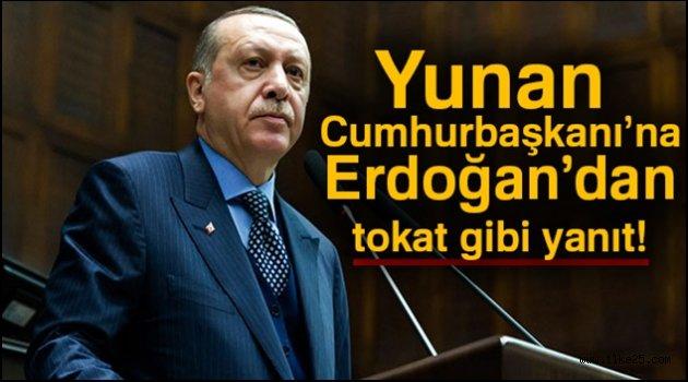 Erdoğan'dan Yunan mevkidaşına tarihi ayar