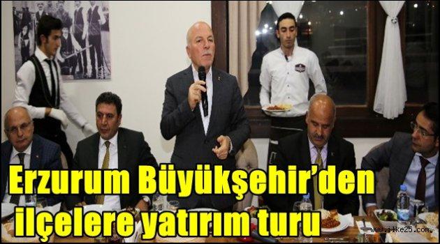 Erzurum Büyükşehir'den ilçelere yatırım turu