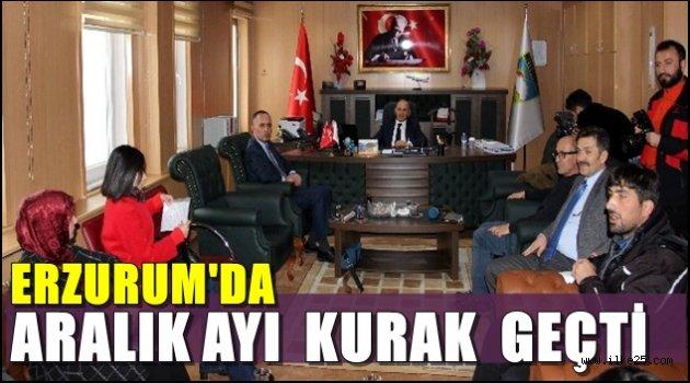 Erzurum'da Aralık ayı önceki yıllara göre kurak geçti