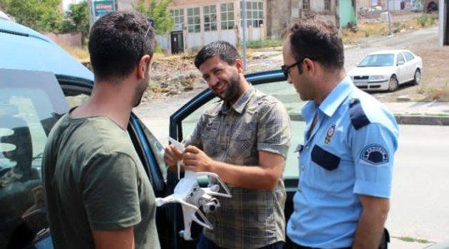 Erzurum İzinsiz Drone Uçuran Şahıs Gözaltına Alındı