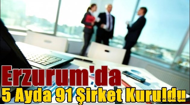 Erzurum'da 5 Ayda 91 Şirket Kuruldu