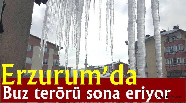 Erzurum'da buz terörü sona eriyor