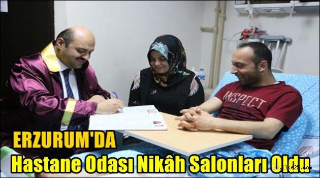Erzurum'da Hastane Odası Nikâh Salonları Oldu