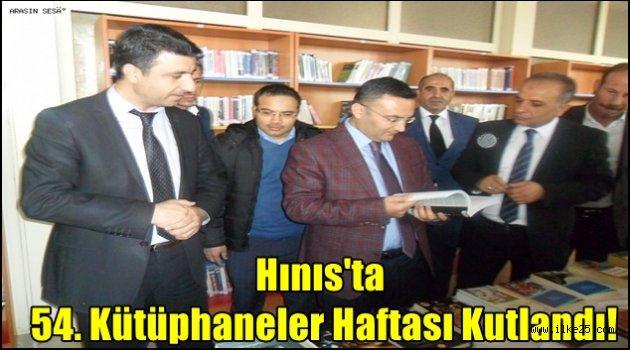 Hınıs'ta 54. Kütüphaneler Haftası Kutlandı!