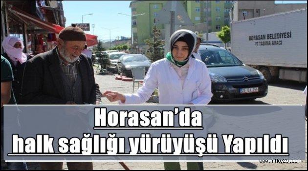 Horasan'da halk sağlığı yürüyüşü