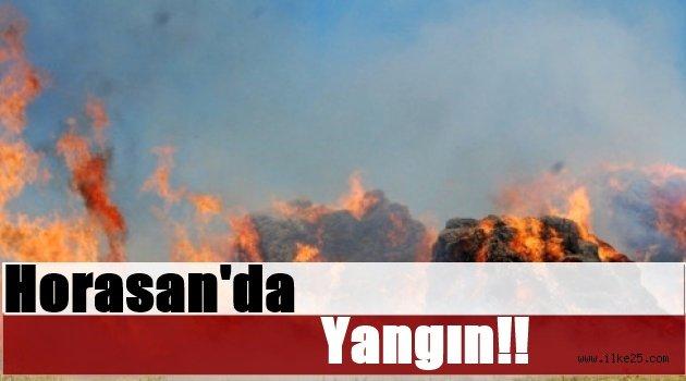 Horasan'da Yangın!!