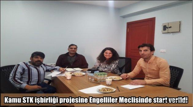Kamu STK işbirliği projesine Engelliler Meclisinde start verildi