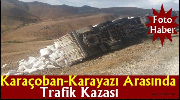 Karaçoban-Karayazı Arasında Trafik Kazası