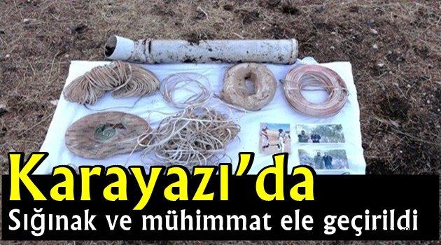 Karayazı'da sığınak ve mühimmat ele geçirildi
