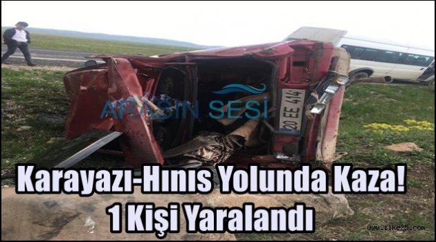 Karayazı-Hınıs Yolunda Kaza! 1 Kişi Yaralandı