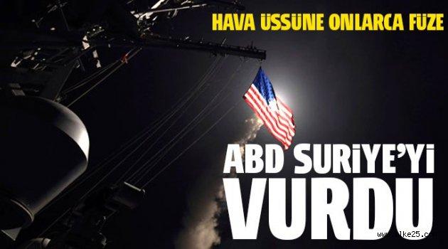 ABD Suriye'de Esad Üssünü Vurdu!!