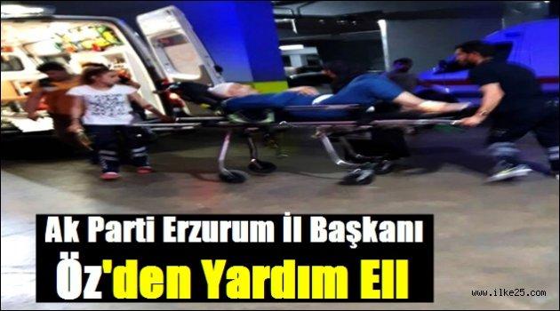 AK Parti Erzurum İl Başkanı Öz'den Yardım Eli