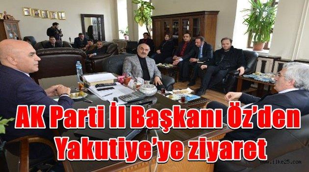 AK Parti İl Başkanı Öz'den Yakutiye'ye ziyaret