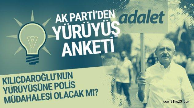 AK Parti'den 'Adalet Yürüyüşü' anketi MYK kararını verdi