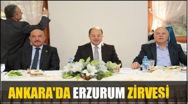 Ankara'da Erzurum Zirvesi!