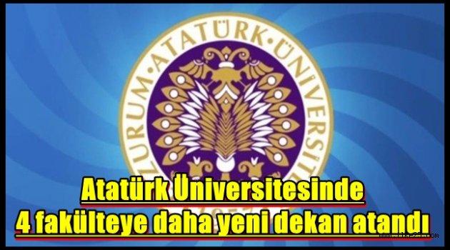 Atatürk Üniversitesinde 4 fakülteye daha yeni dekan atandı