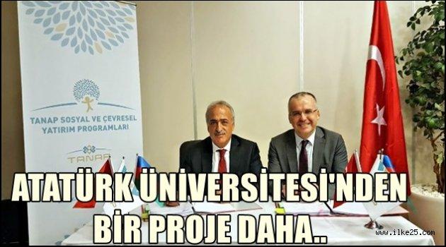 Atatürk Üniversitesinden bir proje daha