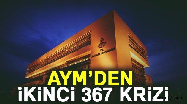 AYM'den ikinci 367 krizi