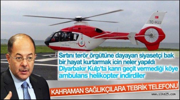 Bakan Akdağ 'dan hamile kadının hayatını kurtaran pilota tebrik