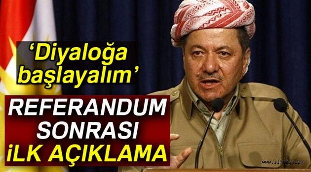 Barzani'den referandum sonrası ilk açıklama