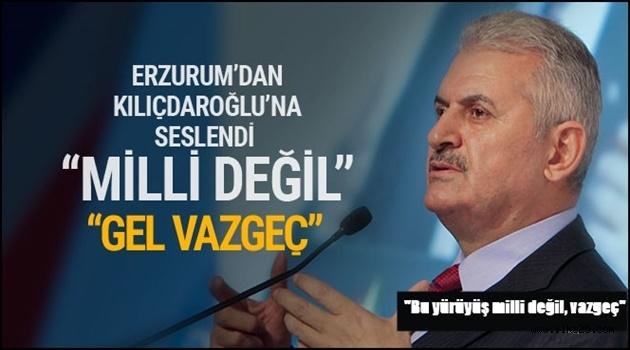 Başbakan Erzurum'dan Kılıçdaroğlu'na Seslendi