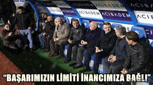 BAŞKAN SEKMEN ERZURUMSPOR'U MOTİVE EDİYOR
