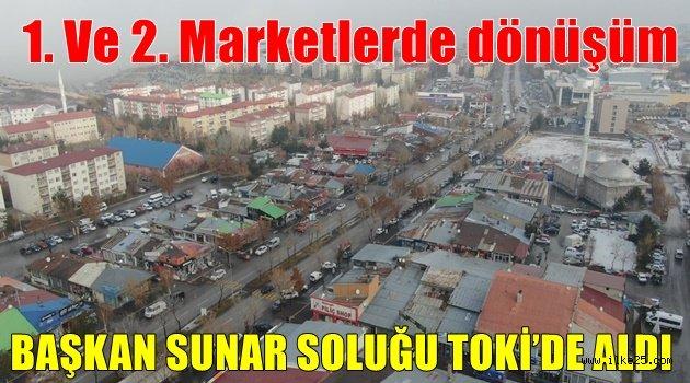 BAŞKAN SUNAR SOLUĞU TOKİ'DE ALDI
