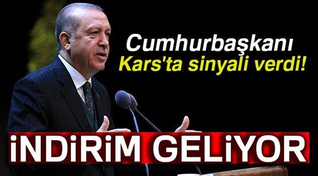 Erdoğan'dan Kars'a uçak bileti müjdesi!